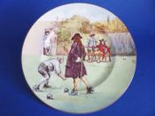 Royal Doulton 'Sir Roger de Coverley Playing Bowls' Rack Plate D5814 c1938